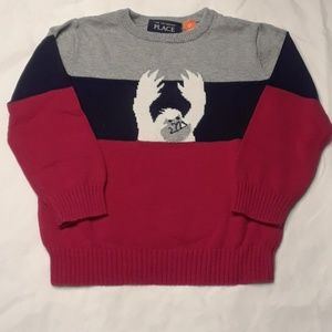 Boy's Yeti Snow Monster Sweater